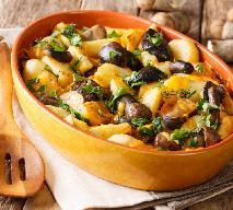 Koźlaki zapiekane z ziemniakami w śmietanie