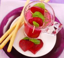 Energetyczny napój z warzyw i owoców: buraków, arbuzów i bananów
